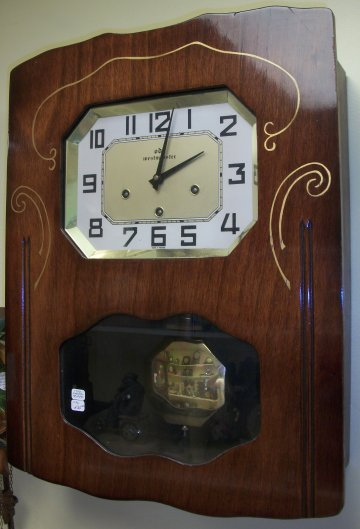 This Is A French Dual Chime Wall Clock It Has Westminster And Ave Maria
